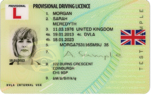 SGM PROVISIONAL DRIVING UK LICENCE